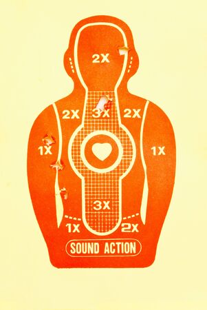 bullethole: Vector Target (print and shot) Stock Photo