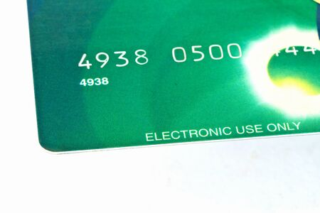 Close up view of a credit card  photo