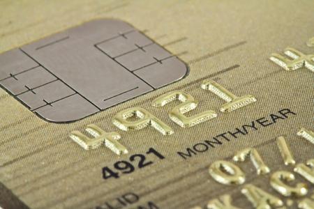 Smart card macro , credit card chip  Stok Fotoğraf