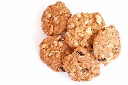 Cereal cookies on a white background  photo
