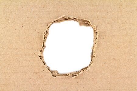 Brown torn paper over white background  Stock Photo - 10871108