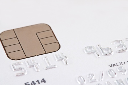 smart card: Smart card macro , credit card chip  Stock Photo