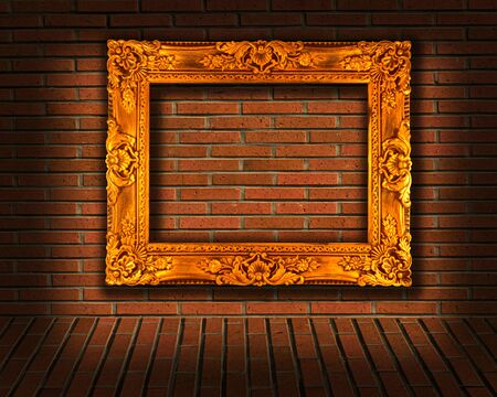 picture frames on brick wall Stock Photo - 11221862