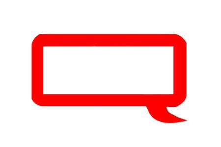 Red speech bubble Stock Photo - 11221848