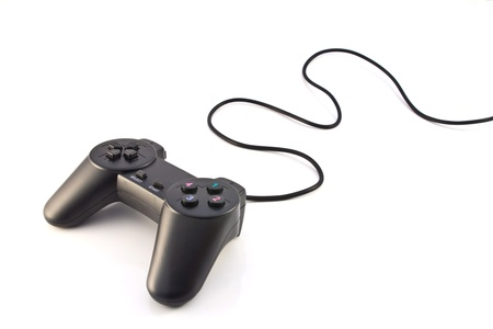 black game controller isolated on white background 版權商用圖片 - 11392715