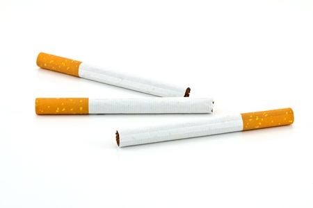 cigarettes isolated on white background 版權商用圖片 - 11720238