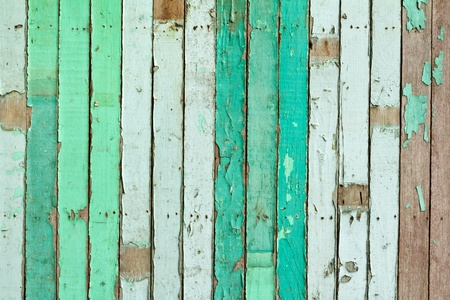 vintage green painted wooden wall   Stock Photo