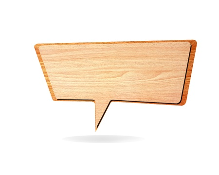 Retro speech bubbles from splat on white background  Stock Photo - 12554657