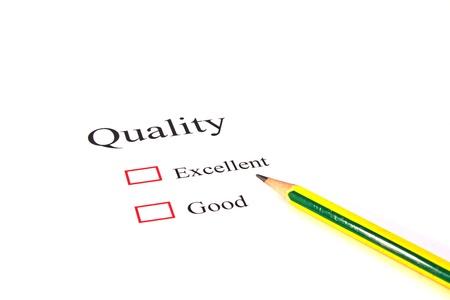 Pencil on quality test closeup Stock Photo - 13105232