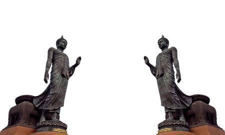 revere:  Big Buddha image isolate on white background  Stock Photo