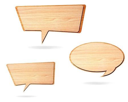 Retro speech bubbles from splat on white background  photo