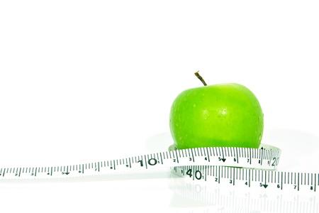 Green apples measured the meter, sports apples 版權商用圖片 - 15543771