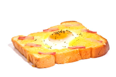 attested: bread with fried egg and ham