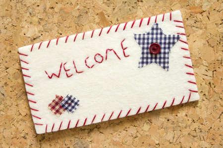 corkwood: Sign velvet welcome