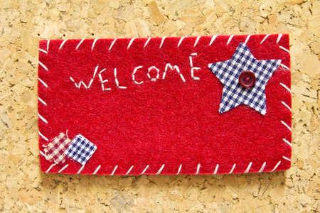 corkwood: Reg�strate terciopelo bienvenidos Foto de archivo