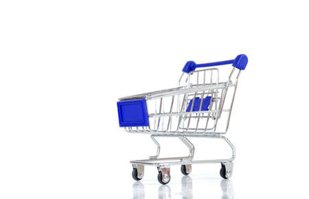 shopping trolley: Shopping Trolley over a plain white background.