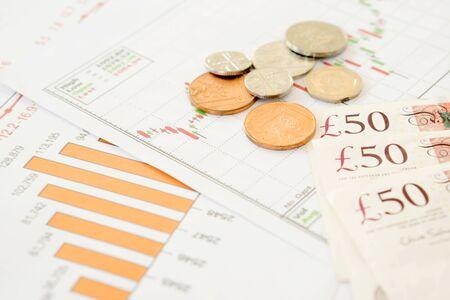 Coins, Savings, Chart Analyze