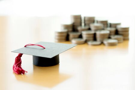 Saving every coins for education Stock Photo