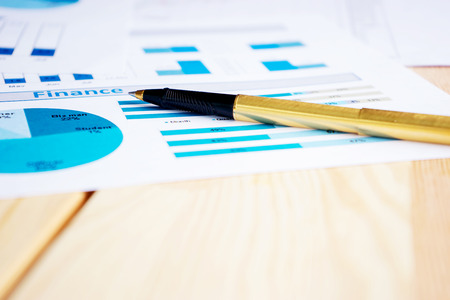 Finance and chart of stock market Stock Photo