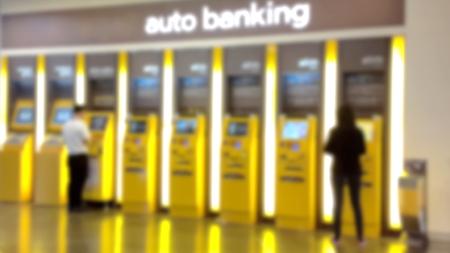 Blur auto banking background  Stok Fotoğraf