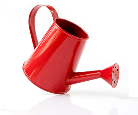 Red Metal Watering Can Stok Fotoğraf - 88971329