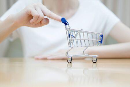 Hand shopping activity Stock Photo