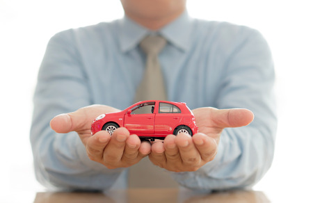 Car (automobile) insurance and collision damage waiver concepts Stock Photo