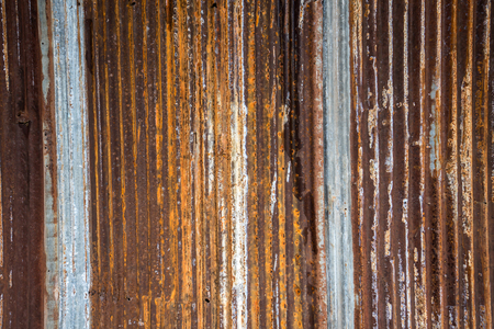 Close up rusty old zinc texture background