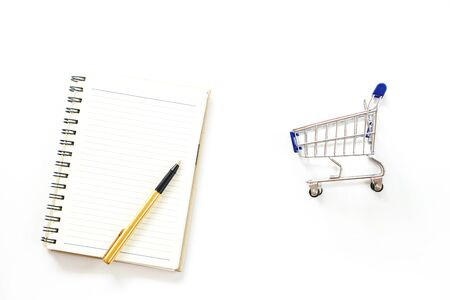 Shopping Concept on white background isolate