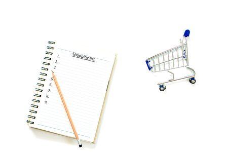 Shopping list Concept on white background isolate 版權商用圖片