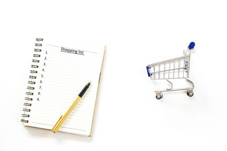 Shopping list Concept on white background isolate 版權商用圖片