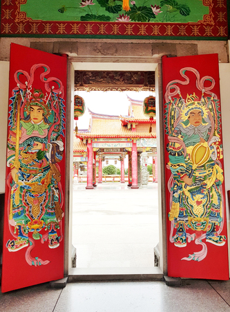 The Chinese temple gate