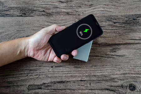 Wireless phone charging technology concept