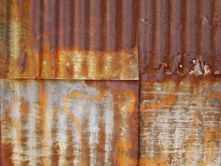 Old Rusty Corrugated Iron Sheet Texture Background