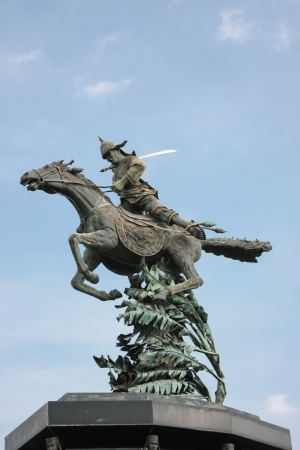 warrior on horse statue Stock Photo - 17156054