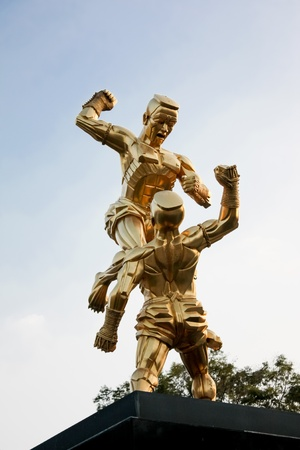 Thai boxing Sculpture  photo