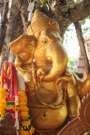 Golden statue of Ganesha Stock Photo - 17156079