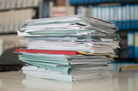 desorden: oficina papeles trastorno Foto de archivo