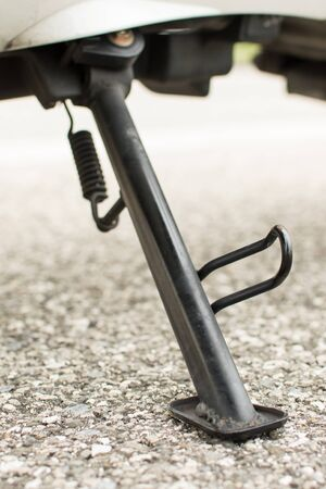 side stand scooter Stock Photo