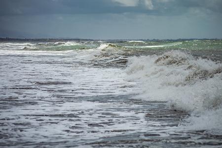 Shades of the stormy sea Standard-Bild