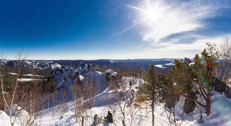 Panoramic view from the top of the mountain.