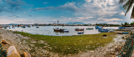 Pier with fishing boats. Nha trang