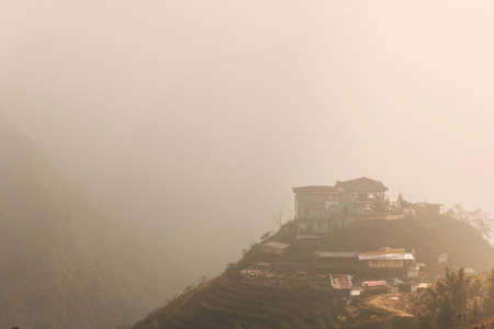 Panoramic view of the valley. Sapa, Vietnam.