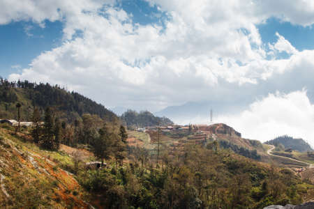 Woodland in a mountain in Sa Pa, Lao Cai province in Vietnam Imagens