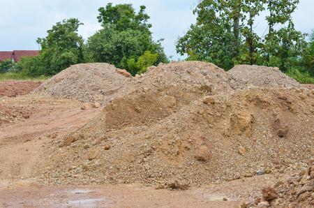 construction sand pile photo
