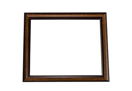 black picture frame: Isolated black picture frame Stock Photo