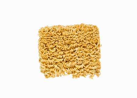 instant ramen: ramen instant noodles isolated on white background