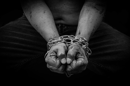 chain hands of a man