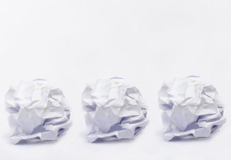 crinkly: three crumpled paper ball