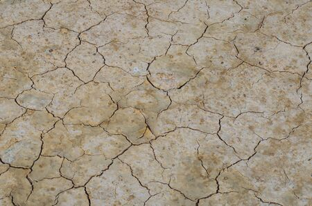 lack: Broken ground due to lack of water. Stock Photo